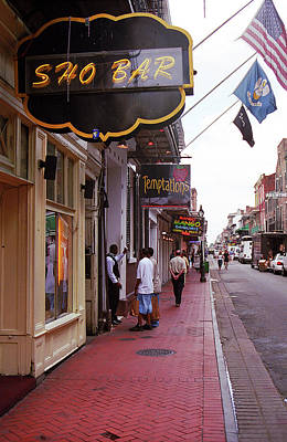 Photograph - New Orleans Bourbon Street 40 by Frank Romeo
