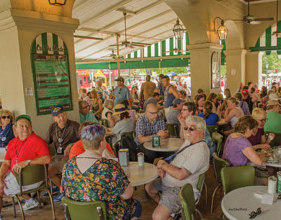 Photograph - New Orleans - Cafe Du Monde by Allen Sheffield