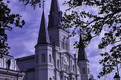 St Louis Square Photograph - New Orleans Cathedral by Garry Gay