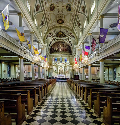 Photograph - New Orleans Cathedral by James Woody