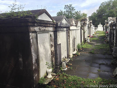 Photograph - New Orleans Cemetery by Mark Peavy