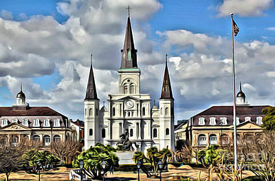 Photograph - New Orleans Church by Carey Chen