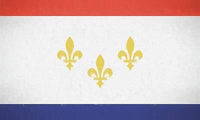 Nola Digital Art - New Orleans City Flag by JC Findley