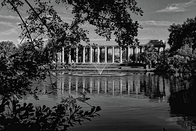 Photograph - New Orleans City Park Peristyle Black And White by Judy Vincent