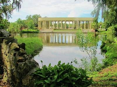 Photograph - New Orleans City Park Peristyle From Goldfish Island by Deborah Lacoste