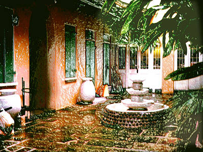 Photograph - New Orleans Courtyard by Merton Allen