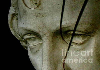 Photograph - New Orleans Eyes Of St. Joseph Statue by Michael Hoard