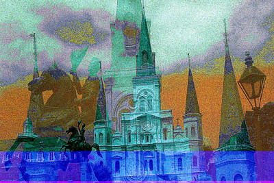 Mixed Media - New Orleans Fantasy Collage by Peter Potter