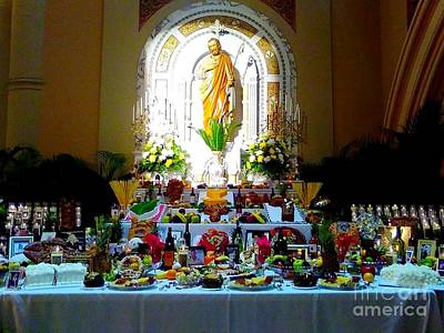 Photograph - New Orleans Feast Day Of St. Joseph Alter by Michael Hoard