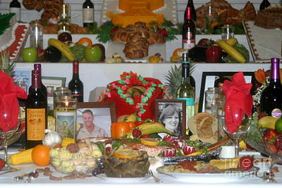 Photograph - New Orleans Feast Day Of St. Joseph Alter Of Food by Michael Hoard