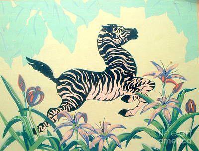 Painting - New Orleans Flying Zebra  by Michael Hoard