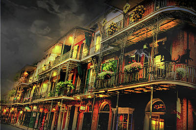 New Orleans Foggy Night Art Print by Mary Albert