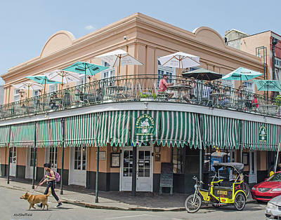 Photograph - New Orleans - French Market Cafe by Allen Sheffield