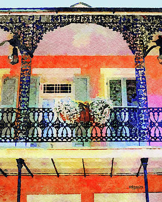 Digital Art - New Orleans French Quarter Balcony by Rebecca Korpita