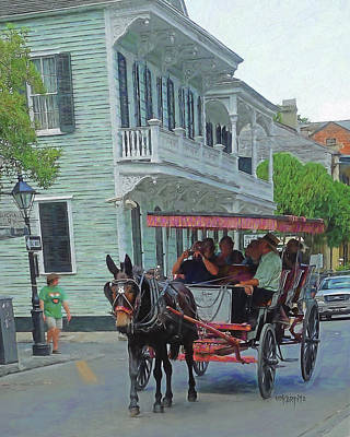 Photograph - New Orleans French Quarter Carriage Ride by Rebecca Korpita
