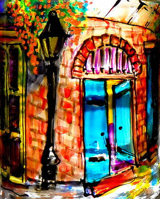 Sackettdoodles Art Photograph - New Orleans French Quarter by Deborah jordan Sackett