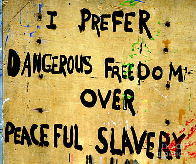 Photograph - New Orleans Graffitti Social Messges Speak Loud And Clear  by Michael Hoard
