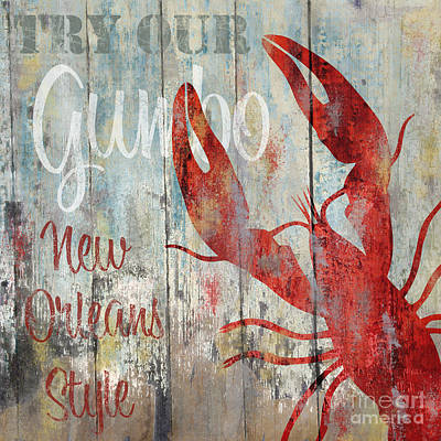Fresh Shrimp Wall Art - Painting - New Orleans Gumbo by Mindy Sommers