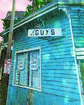 Photograph - New Orleans Guys Po-boys Colorful House by Rebecca Korpita