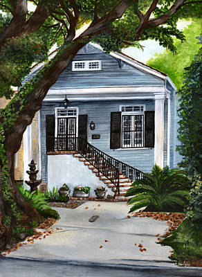 New Orleans Painting - New Orleans Home by Elaine Hodges