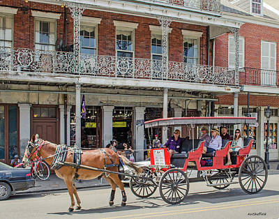 Photograph - New Orleans - Horse Drawn Carriage by Allen Sheffield