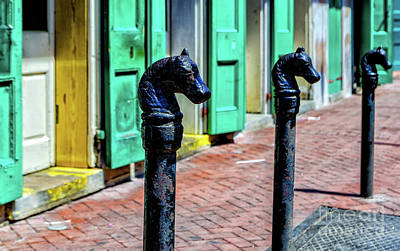 Photograph - New Orleans Horse Head Posts by Kathleen K Parker