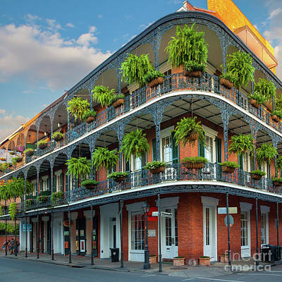Mardi Gras Photograph - New Orleans House by Inge Johnsson