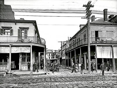 Photograph - New Orleans In 1906 - Italian Headquarters On Madison Street by Merton Allen