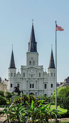 Photograph - New Orleans - Jackson Square 2 by Allen Sheffield