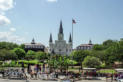 Photograph - New Orleans - Jackson Square by Allen Sheffield