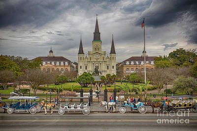 Photograph - New Orleans Jackson Square by Ron Sadlier