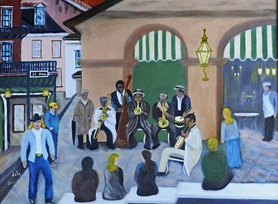 Cafe Du Monde Painting - New Orleans Jazz - Rain Or Shine by Douglas Ann Slusher