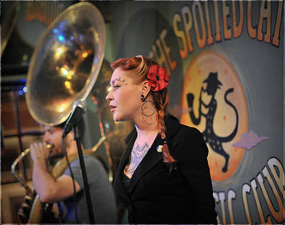 Photograph - New Orleans Jazz Singer by Steve Archbold