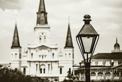 New Orleans Landmark - Sepia Art Print