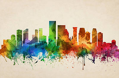 Target Project 62 Abstract - New Orleans Louisiana Skyline 05 by Aged Pixel