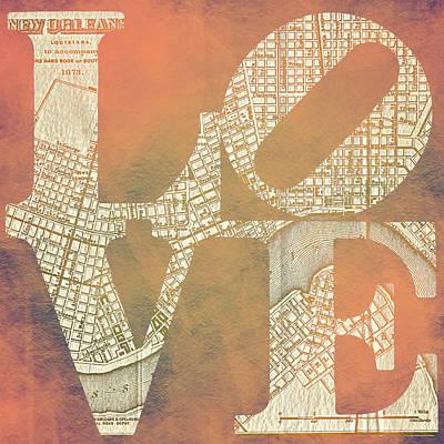 Big Easy Digital Art - New Orleans Love V1 by Brandi Fitzgerald