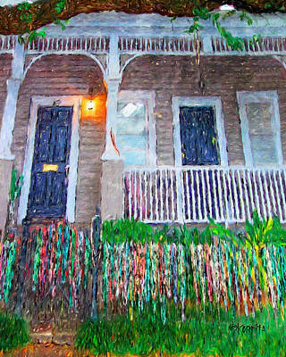 Photograph - New Orleans Mardi Gras Bead House by Rebecca Korpita