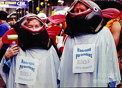 Photograph - New Orleans Mardi Gras Katrina Piranha Death By A Thousand Bites by Michael Hoard
