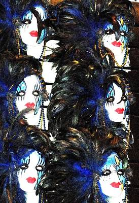 New Orleans Masks Art Print