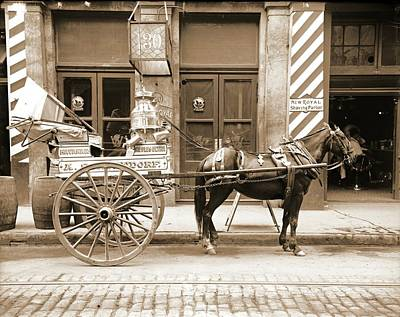 Storefront Photograph - New Orleans Milk Cart In Louisiana 1905 by Padre Art