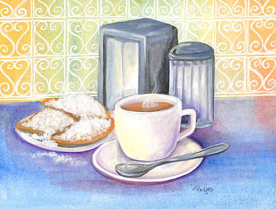 Beignets Painting - New Orleans Morning by Elaine Hodges