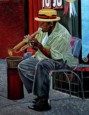 Painting - Bourbon Street Blues by JoeRay Kelley