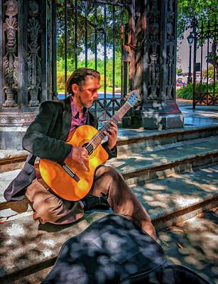 New Orleans Oil Photograph - New Orleans Musician - Chris Craig - Paint by Steve Harrington
