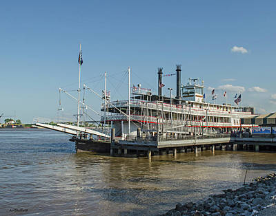 Photograph - New Orleans - Natchez Paddlewheeler by Allen Sheffield