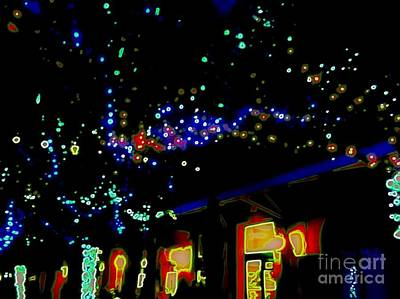 Photograph - New Orleans Neon Christmas Glow by Michael Hoard