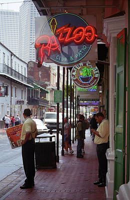 Photograph - New Orleans Neon by Frank Romeo