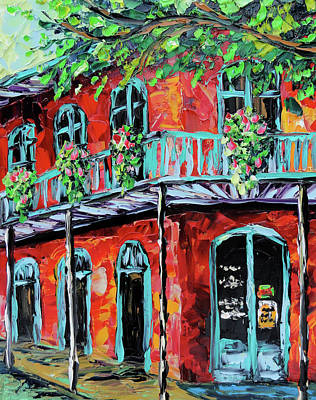 Sasik Painting - New Orleans Oil Painting - Red House by Beata Sasik