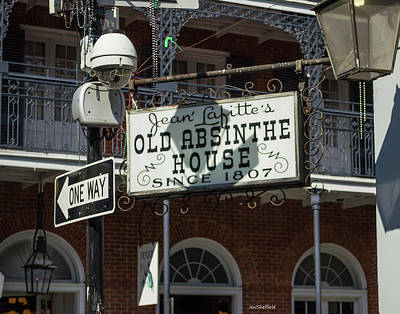 Photograph - New Orleans - Old Absinthe House by Allen Sheffield