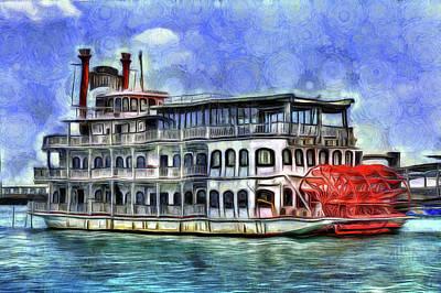 Photograph - New Orleans Paddle Steamer Art by David Pyatt