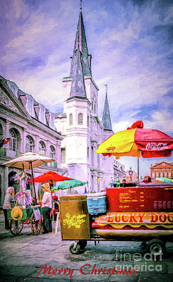 Photograph - New Orleans-painted-merry Christmas by Kathleen K Parker